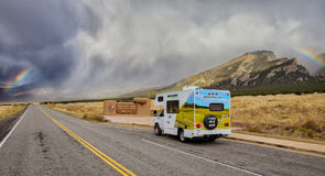 RV at Great Sand Dunes National Park Stock Photos