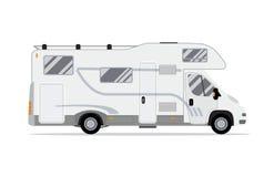 Rv-husvagn som används som permanent hemlastbil royaltyfri illustrationer