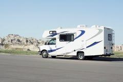 RV In Badlands National Park Stock Images