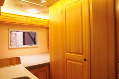 RV interior. The close-up of luxury recreational vehicle interior Stock Photo