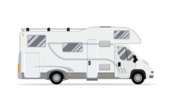 Rv mobile home truck. Stock Photo