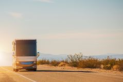RV Motorcoach Road Trip royalty free stock photography