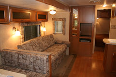 RV Motorhome Royalty Free Stock Photography