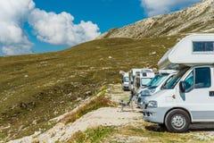 RV Motorhomes camping Zdjęcie Stock