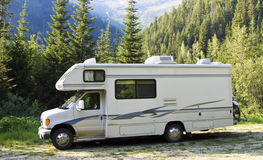 RV in the mountains Stock Photography