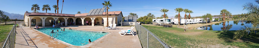 RV Park Camping - Panorama Stock Images