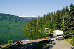 RV park at the lake Royalty Free Stock Photos