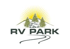 Rv park z naturalnym tłem ilustracji