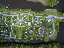 RV Parks & Campgrounds. Aerial view of RV parks & campgrounds in Pembroke pines, Florida stock photos