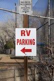 Rv-Parkzeichen Stockfoto