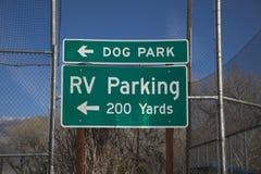 Rv-Parkzeichen Stockfotografie