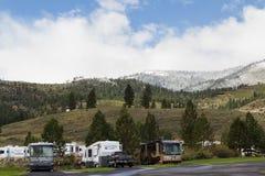 Rv -rv-ing in Nevada royalty-vrije stock fotografie