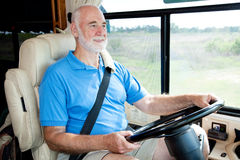RV Senior - Driving Stock Photos