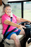 RV Senior Lady Driver Royalty Free Stock Photo