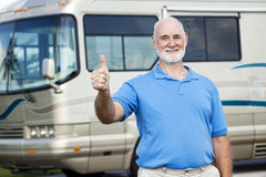 RV Senior Man - Thumbs Up Royalty Free Stock Photos