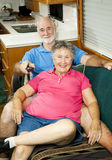 RV Seniors - Channel Surfing Stock Photos