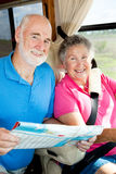 RV Seniors - In the Cockpit Royalty Free Stock Photography