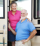 RV Seniors in the Doorway Royalty Free Stock Photo