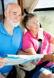 RV Seniors - Eyes on the Road Stock Image