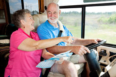 RV Seniors - Giving Directions Royalty Free Stock Photo