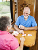 RV Seniors - Playing Cribbage Stock Images