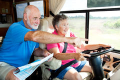 RV Seniors - Point the Way Royalty Free Stock Photo