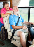 RV Seniors Riding in Style Stock Photo