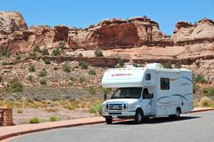 RV travel Stock Image