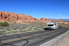RV in the USA Royalty Free Stock Photos