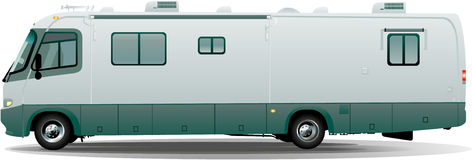 Rv vector camper Royalty Free Stock Images