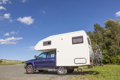 RV vehicle in a parking lot Royalty Free Stock Photography