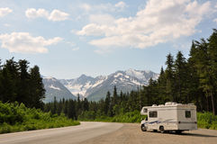 RV With An Amazing View Stock Image