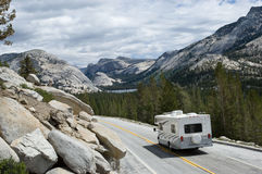 RV in Yosemite Royalty Free Stock Photos