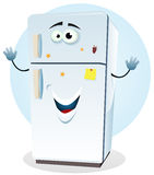 RVB de base. Illustration of a cartoon happy fridge character welcoming Stock Photo
