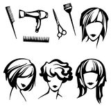 Hairstyles royalty free illustration
