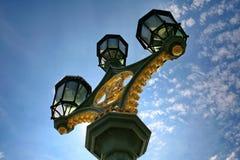 Réverbères de pont de Westminster Images libres de droits