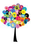Árvore abstrata com as letras do alfabeto Fotografia de Stock