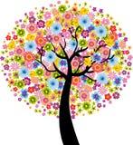 Árvore colorida da flor Fotos de Stock Royalty Free