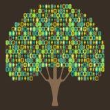 Árvore da Sociologia - pictograma dos povos Fotografia de Stock