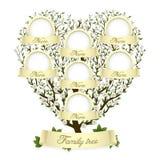 Árvore de família na forma do coração Imagens de Stock Royalty Free
