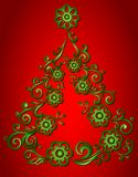 Árvore de Natal, abstrata Fotos de Stock