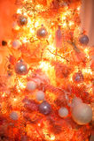 Árvore de Natal cor-de-rosa e alaranjada Fotos de Stock Royalty Free