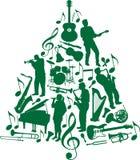 Árvore de Natal da música Fotos de Stock Royalty Free