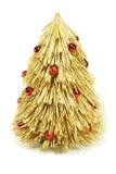 Árvore de Natal da palha Imagem de Stock Royalty Free