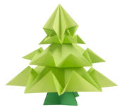 Árvore de Natal de Origami Fotografia de Stock Royalty Free