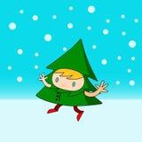 Árvore de Natal do caráter Fotos de Stock