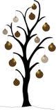 Árvore de Natal do ouro Fotografia de Stock