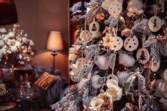 ?rvore de Natal em casa Imagens de Stock Royalty Free