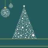 Árvore de Natal feita das estrelas Imagem de Stock