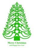 Árvore de Natal feita do papel da grama - luz - verde Fotografia de Stock